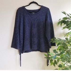 Madewell Striped Lace Up Top EUC